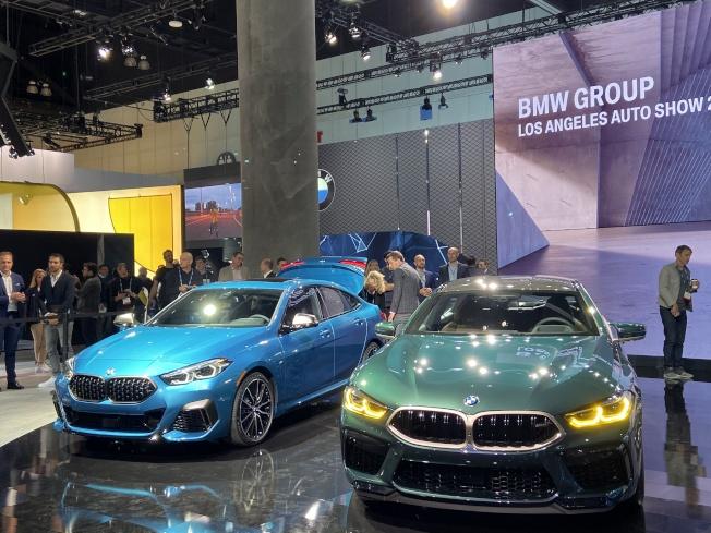 BMW新款轎車。(記者謝雨珊/攝影)