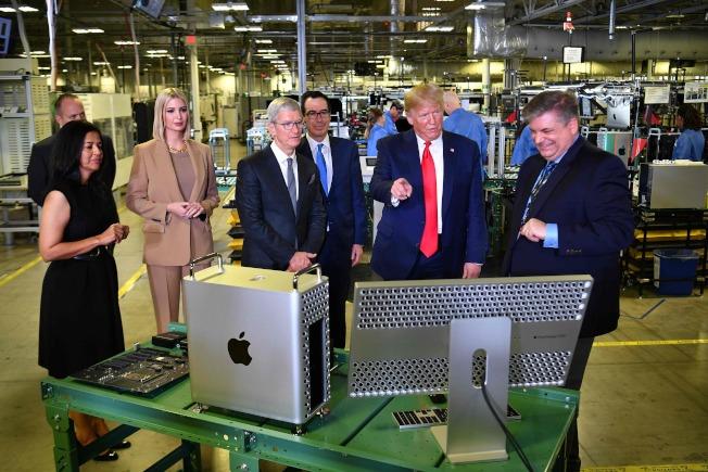川普錯誤地宣稱這是蘋果新廠。(Getty Images)