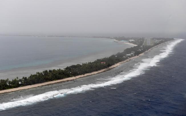太平洋島國吐瓦魯正面對海平面上升引發的滅國危機。歐新社
