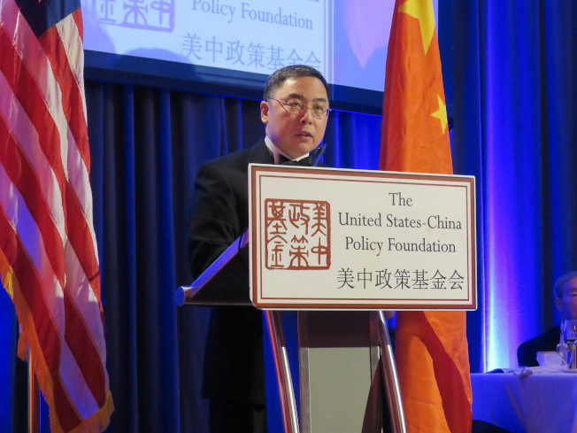 中國駐美公使李克新21日出席美中政策基金會年度晚宴。華盛頓記者張加/攝影