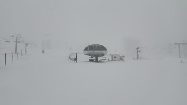 雪谷山滑雪場已是一片銀色世界。(雪谷山滑雪場提供)