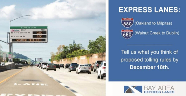 680與880公路也正計畫提出單人付費使用快速道路。(灣區基礎設施融資局提供)