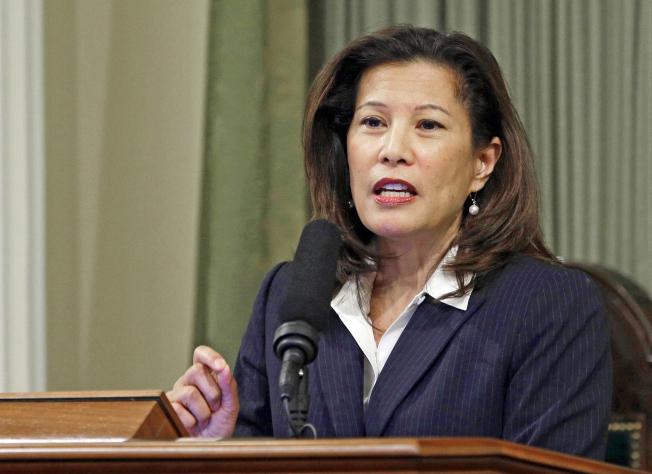 加州最高法院21日一致裁定,川普總統明天春季以參選人身分參加加州初選,無須公布他的稅表。圖為加州最高法院首席大法官沙凱伊。( 美聯社)