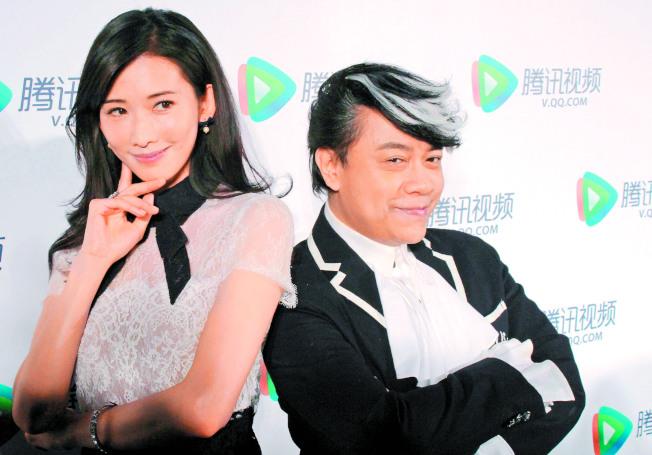 林志玲、蔡康永(右)合作多次。(本報系資料照片)