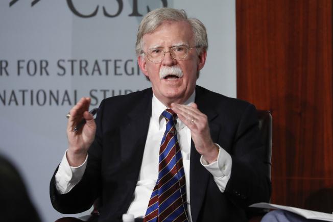前任白宮國家安全顧問波頓(John Bolton)。美聯社