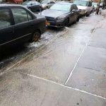 日落公園地下水管破裂 近百住戶、商家遭殃