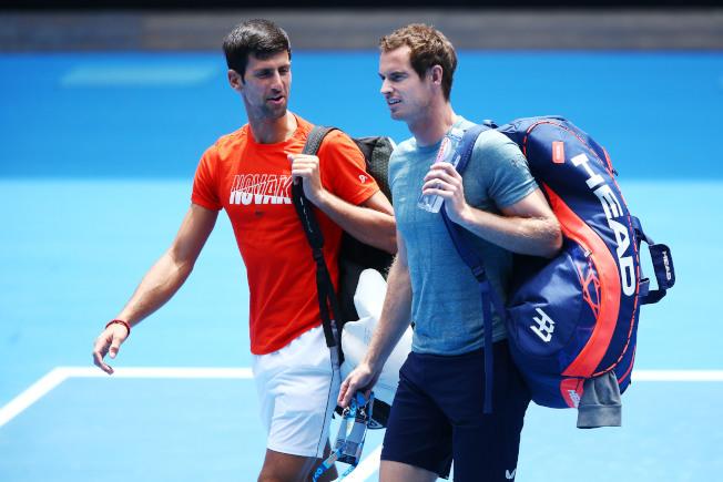 喬科維奇(左)與穆雷(右)對於東京奧運都有很高的參賽意願。(Getty Images)