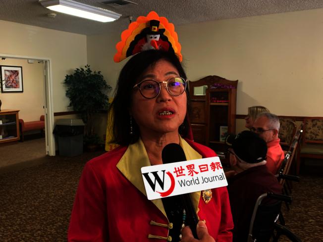 世界華人工商婦女企管協會南加州分會會長江瑞瀛。(記者王子銘/攝影)