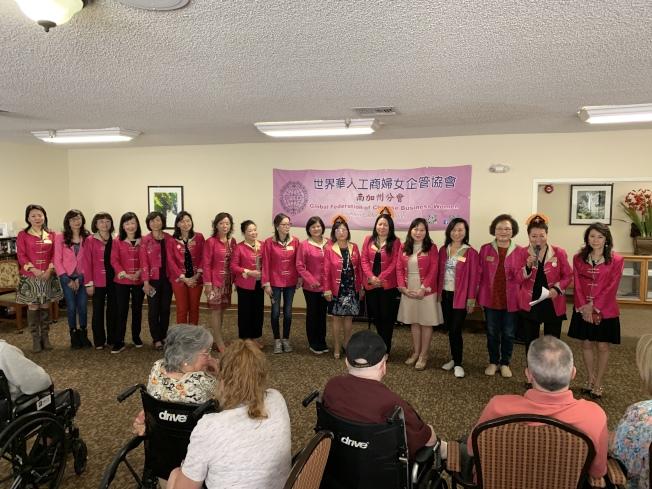 世界華人工商婦女企管協會南加州分會成員。(記者王子銘/攝影)
