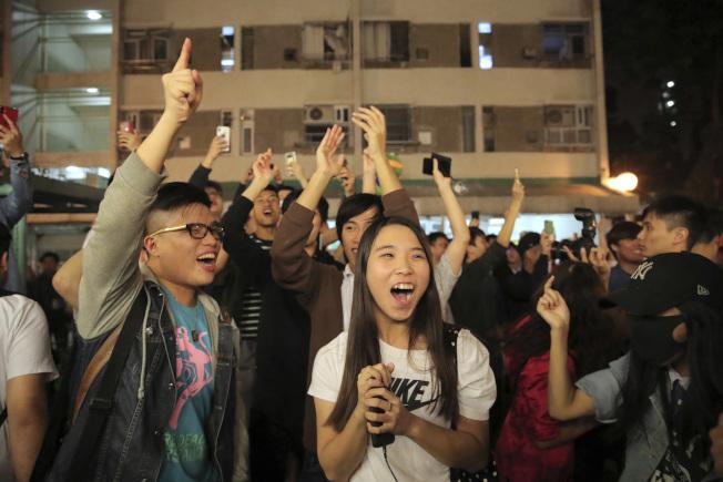 田北辰指政府不能看輕年輕人的意見。(美聯社)