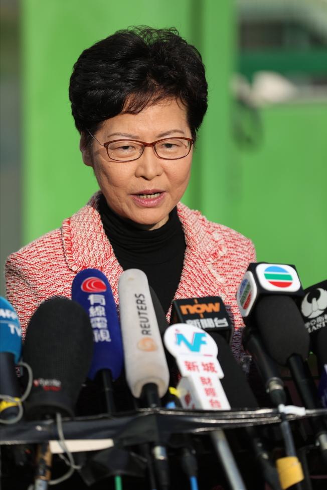 香港特首林鄭月娥承受極大壓力。(歐新社)