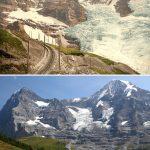 1張圖瑞士少女峰百年照片今昔對比 冰河消退狀況令人驚心