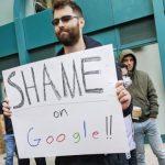 參加集會抗議Google4員工被炒