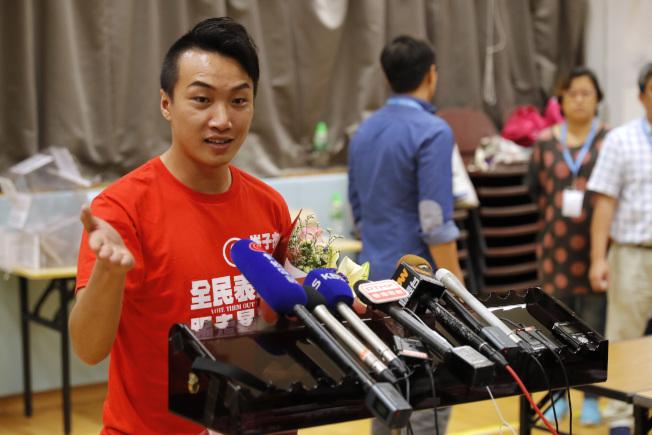 香港政壇新秀、民陣召集人岑子杰。(美聯社)