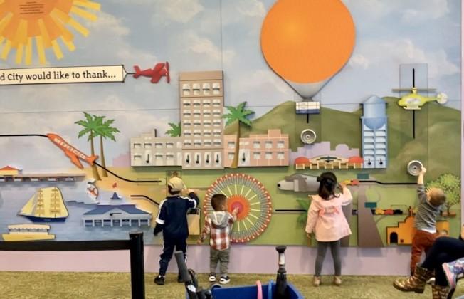 爾灣微型城市兒童博物館感恩節活動。(記者尚穎/攝影)