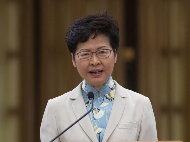 林鄭月娥指香港的根基,包括一國兩制下的獨特優勢、法治及司法獨立,仍然健全。(美聯社資料照片)