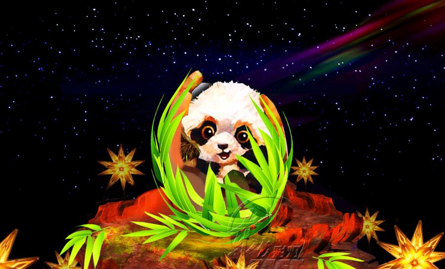 Hello Panda Festival 園區設有玩躲迷藏的小熊貓燈組,讓大小朋友用聲音尋找可愛熊貓。世界日報規畫線上尋找「小熊貓」遊戲,一起趣味抽獎。