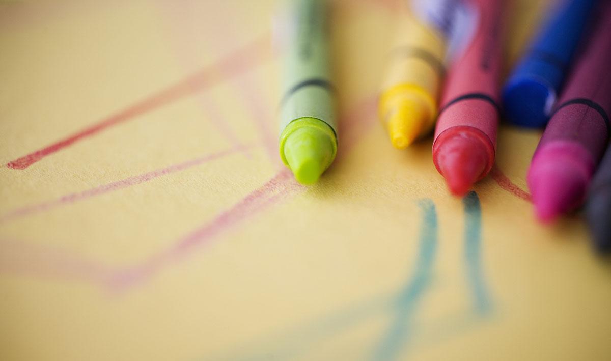 Crayon and Crayon Drawing