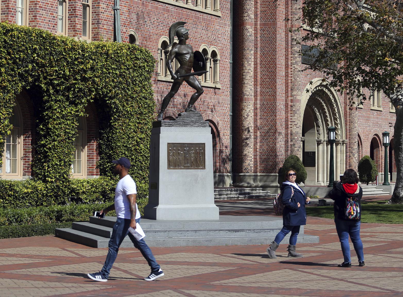 南加州大學(USC)本學期內有9名學生死亡。(美聯社)