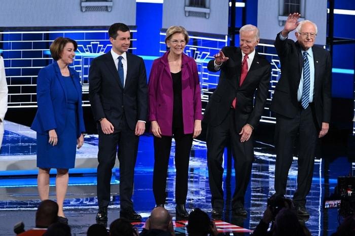 民主黨總統參選人第5輪辯論今在亞特蘭大舉行。(Getty Images)