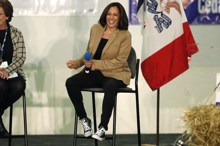 加州聯邦參議員賀錦麗(Kamala Harris)。(美聯社)