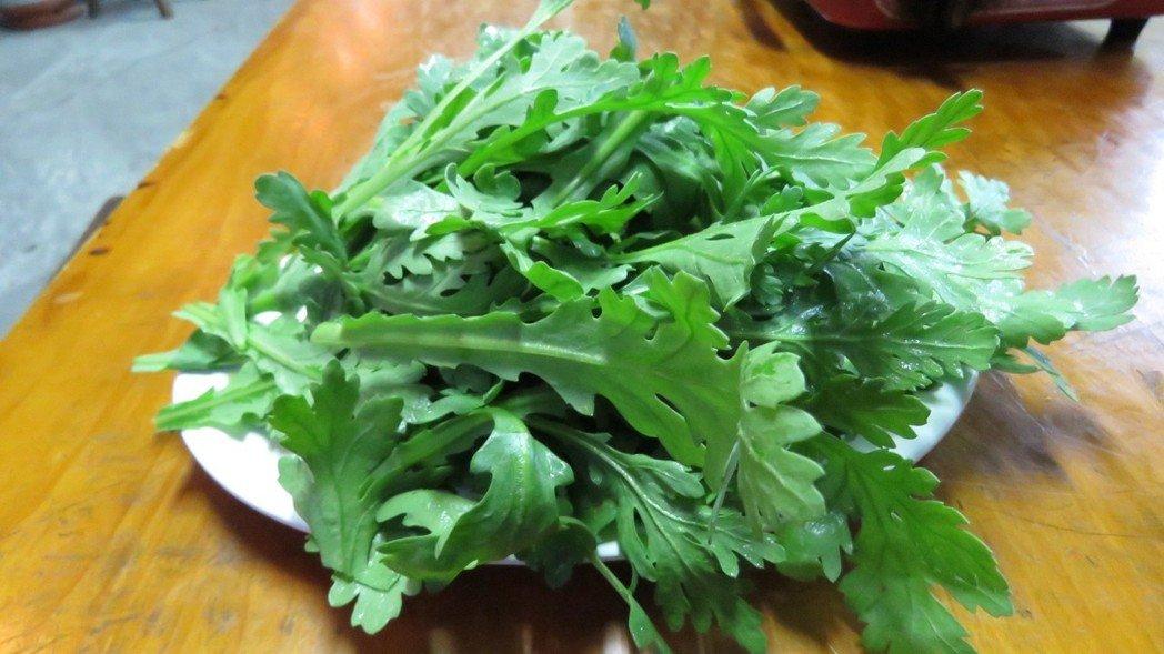 許多人吃火鍋及鹹湯圓,一定少不了加茼蒿。 本報系記者胡瑋芳/攝影