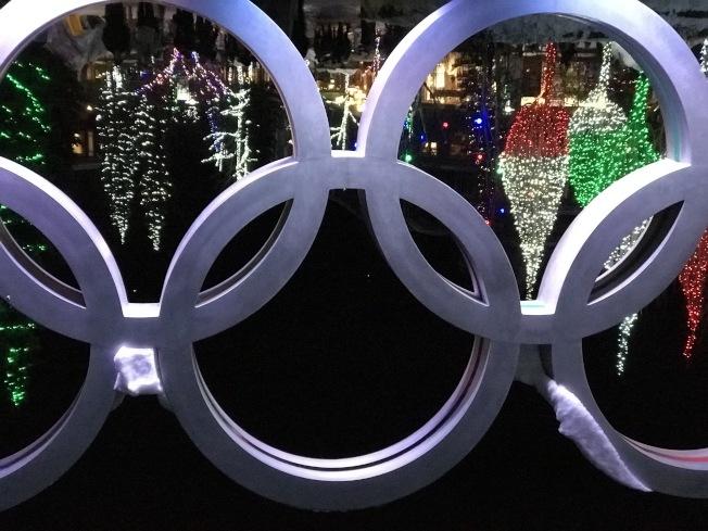 奧林匹克廣場的彩燈。