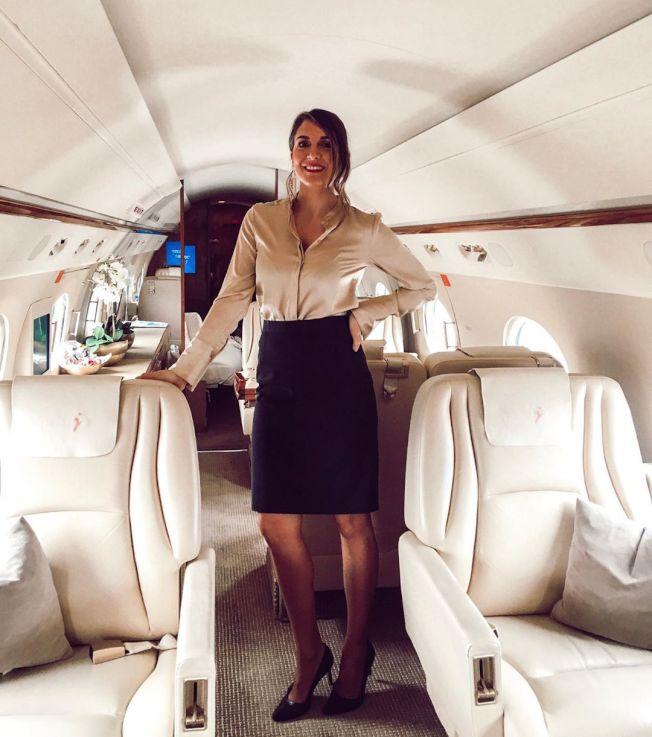 瑪麗‧卡立姆紐歐說專機空服員要有超強烹飪手藝。 (marykalymnou Instagram)
