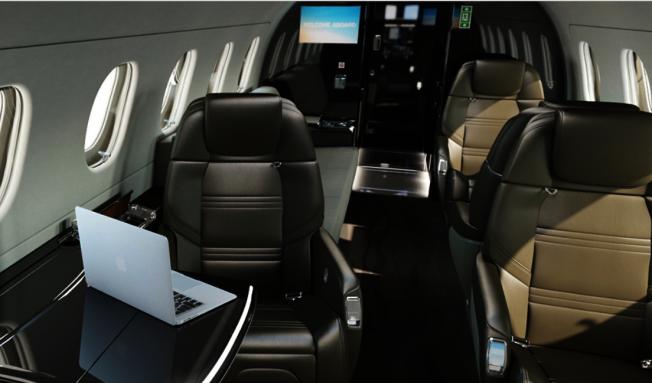巴西航空工業公司(Embraer)的萊格賽(Legacy)專機內部。(取自Embraer官網)