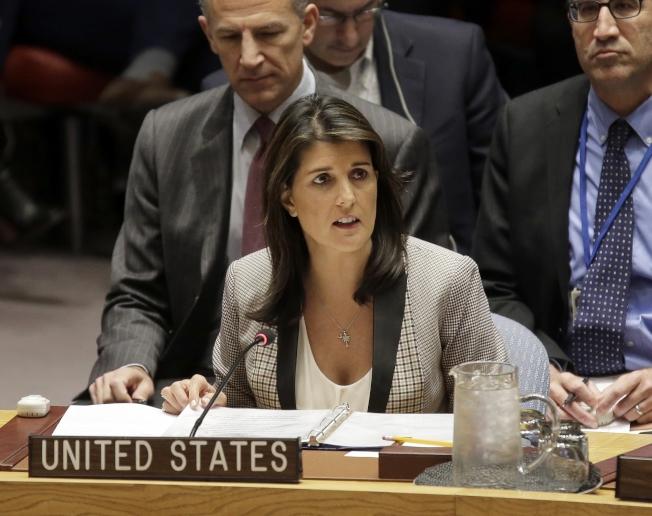前任美國駐聯合國大使海理。(美聯社)