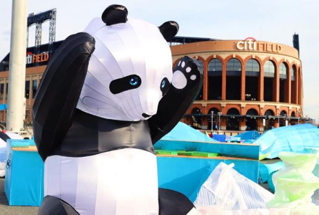 熊貓舉手的俏皮模樣,將在Hello Panda Festival園區與您相見。(取材自Hello Panda Festival的Instagram)
