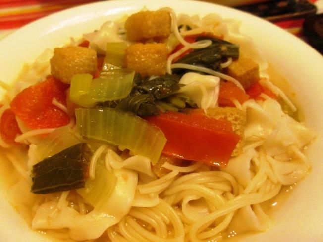 椒麻青江菜湯麵