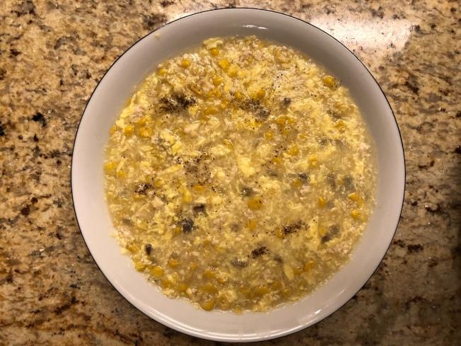 雞蓉蘑菇粟米湯