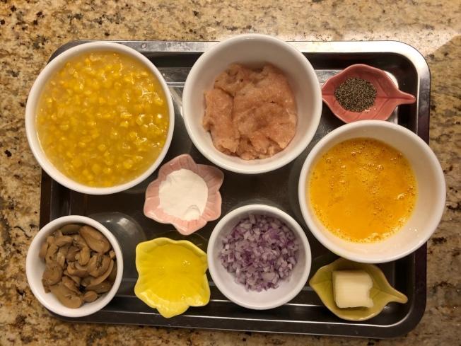 雞蓉蘑菇粟米湯材料