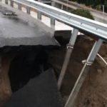 雷特蘭10號公路 坍方陷大洞