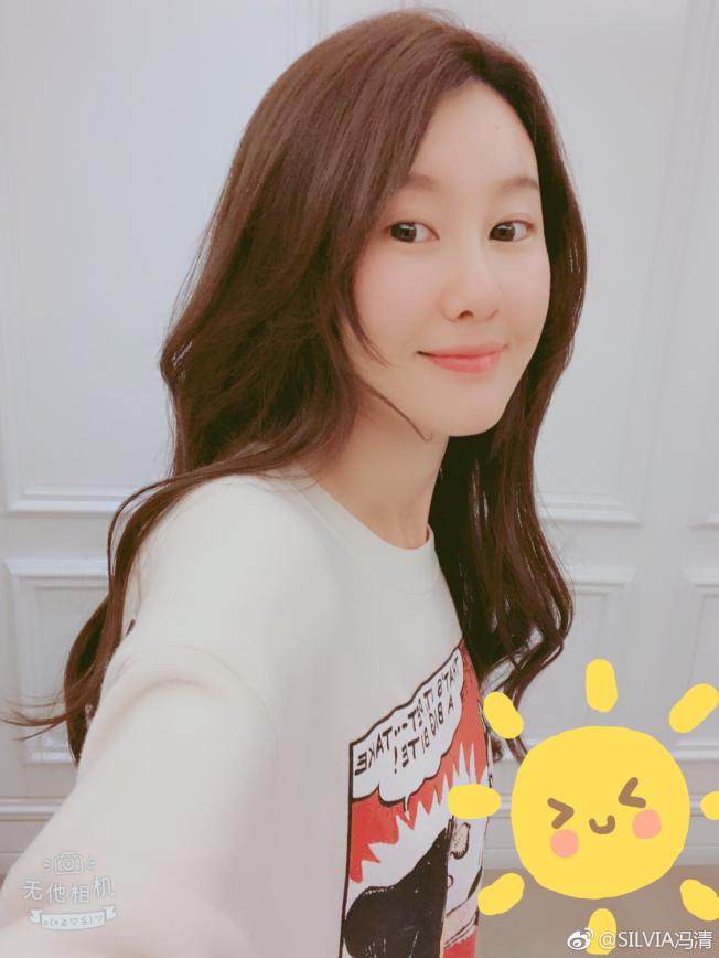 馮清是王寶強新女友。(取材自微博)