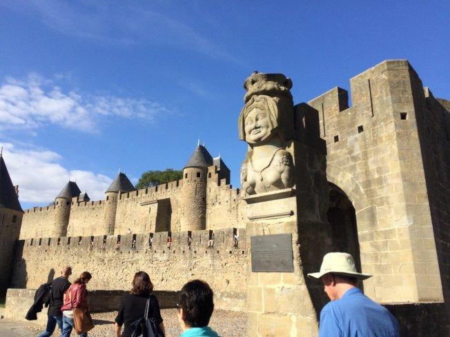 位於南法的中世紀古堡─卡爾卡松古城。美聯社