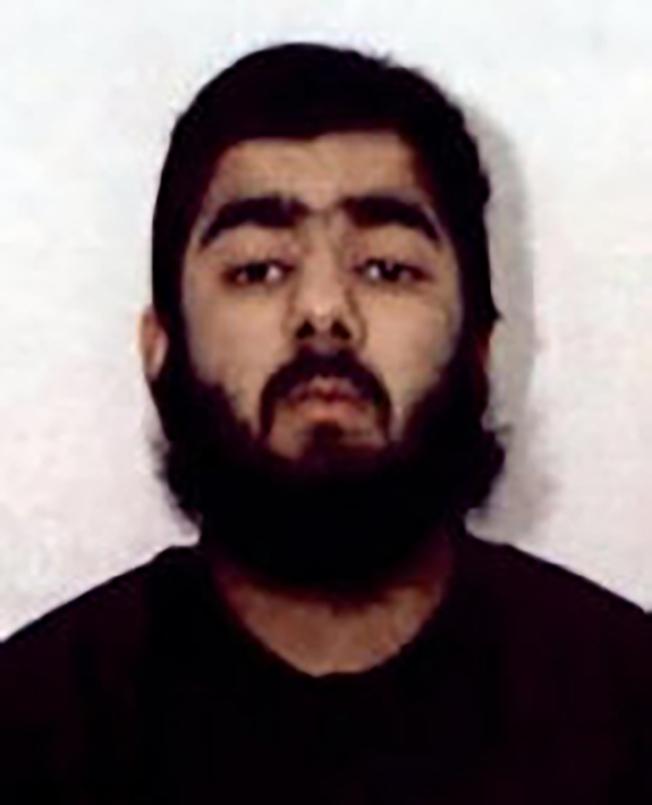 英國警方公布康恩的照片,他上月29日在倫敦持刀亂刺造成兩人死亡。(美聯社)