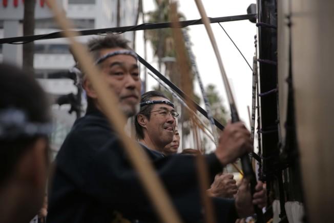 日本Nebuta遊行組織。(記者王子銘/攝影)