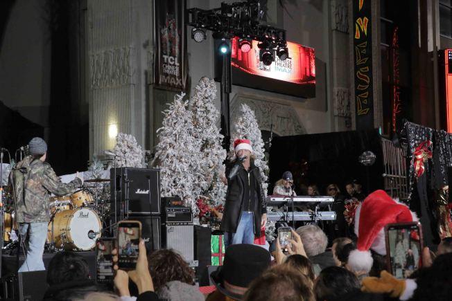第88屆好萊塢耶誕節遊行音樂會現場。(記者王子銘/攝影)