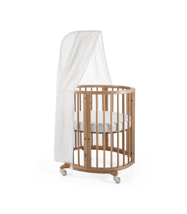 造型典雅的Sleepi迷你嬰兒床。(圖:Stokke提供)