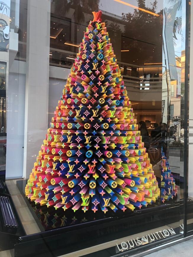 LV耶誕樹。(記者張宏/攝影)