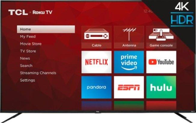 中國品牌TCL 75吋4K電視。(取自百思買)