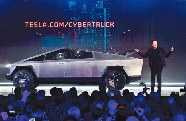 Tesla推出的Cybertruck。(Getty Images)