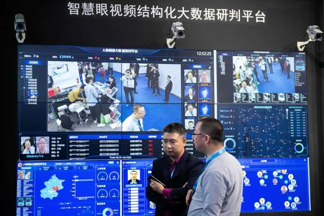 人臉識別科技正日漸成為中國日常生活和商業交易的一部。圖為利用人工智能技術可迅速辨識人臉。(Getty Images)