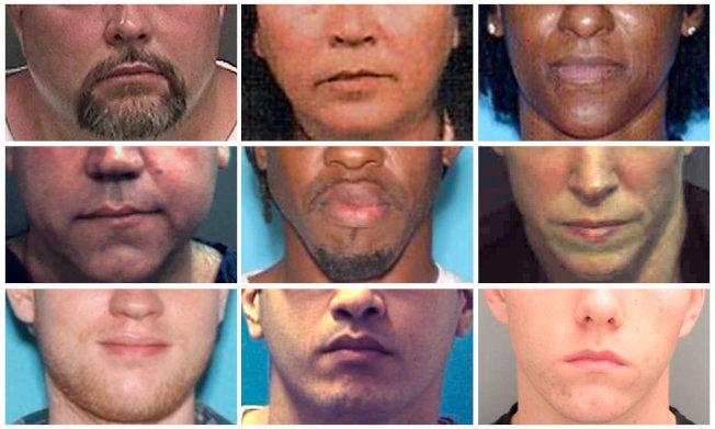 西方國家對人臉識別技術的應用有嚴格法律界定,保障個人私為重,也成為捉拿逃犯的一種方式。圖為佛州警方公布的嫌犯人臉識別。(路透)