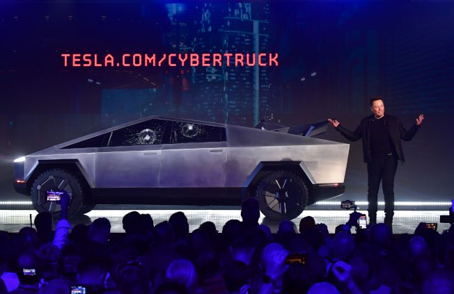 Tesla推出的Cybertruck。(Getty Images)
