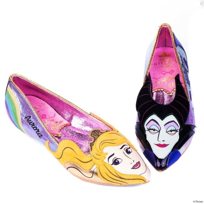 一雙尖頭鞋一次擁有睡美人歐若拉與黑魔女梅菲瑟。圖/摘自官網