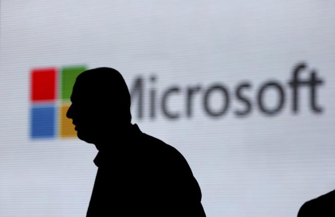 六強中繳納稅率最高的是微軟,現金稅率為16.8%。(美聯社)