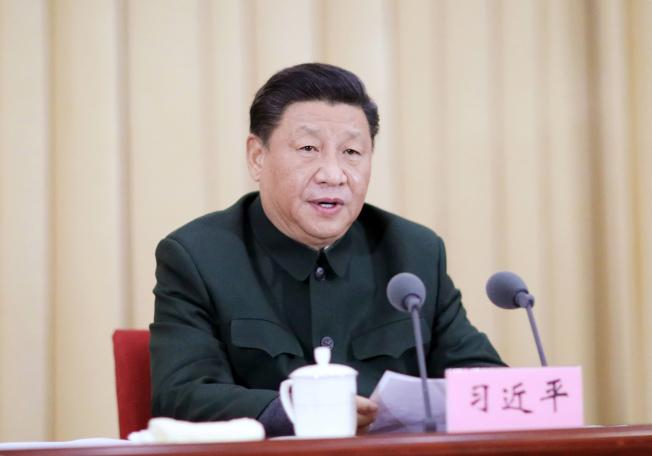 中國國家主席習近平2日對香港表態,批評美國等西方國家干涉香港事務。圖為習近平上月27日在國防大學的全軍院校長集訓開班儀式講話。(新華社)